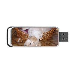 Yellow Labrador Pup Portable USB Flash (Two Sides) by TailWags