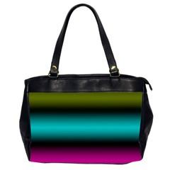 Dark Green Mint Blue Lilac Soft Gradient Office Handbags (2 Sides)  by designworld65