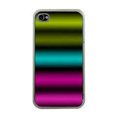 Dark Green Mint Blue Lilac Soft Gradient Apple Iphone 4 Case (clear) by designworld65