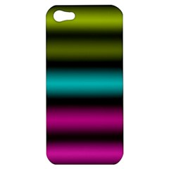 Dark Green Mint Blue Lilac Soft Gradient Apple Iphone 5 Hardshell Case by designworld65