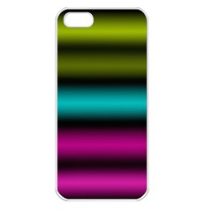 Dark Green Mint Blue Lilac Soft Gradient Apple Iphone 5 Seamless Case (white) by designworld65