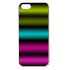 Dark Green Mint Blue Lilac Soft Gradient Apple Seamless Iphone 5 Case (clear) by designworld65