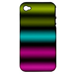Dark Green Mint Blue Lilac Soft Gradient Apple Iphone 4/4s Hardshell Case (pc+silicone) by designworld65