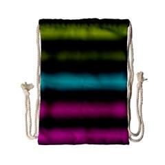 Dark Green Mint Blue Lilac Soft Gradient Drawstring Bag (small) by designworld65
