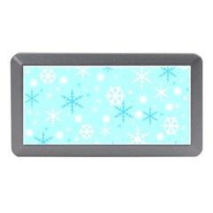 Blue Xmas pattern Memory Card Reader (Mini) by Valentinaart