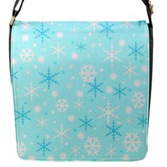 Blue Xmas Pattern Flap Messenger Bag (s) by Valentinaart