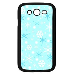 Blue Xmas Pattern Samsung Galaxy Grand Duos I9082 Case (black) by Valentinaart
