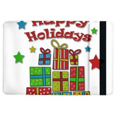Happy Holidays - gifts and stars iPad Air 2 Flip by Valentinaart