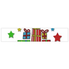 Happy Holidays   Gifts And Stars Flano Scarf (small) by Valentinaart