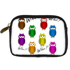 Cute Owls   Who? Digital Camera Cases by Valentinaart