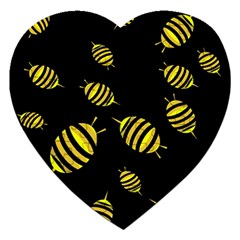 Decorative Bees Jigsaw Puzzle (heart) by Valentinaart