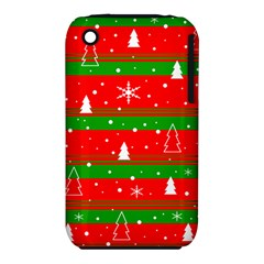 Xmas Pattern Apple Iphone 3g/3gs Hardshell Case (pc+silicone) by Valentinaart