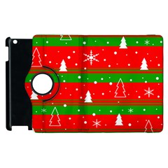 Xmas Pattern Apple Ipad 2 Flip 360 Case by Valentinaart
