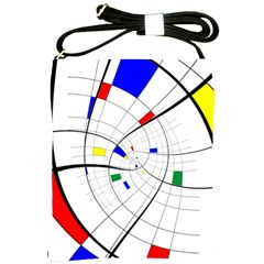 Swirl Grid With Colors Red Blue Green Yellow Spiral Shoulder Sling Bags by designworld65