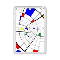 Swirl Grid With Colors Red Blue Green Yellow Spiral Ipad Mini 2 Enamel Coated Cases by designworld65