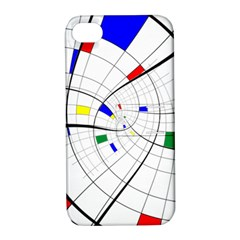 Swirl Grid With Colors Red Blue Green Yellow Spiral Apple Iphone 4/4s Hardshell Case With Stand by designworld65