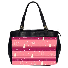 Pink Xmas Office Handbags (2 Sides)  by Valentinaart