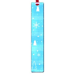 Blue Xmas Large Book Marks by Valentinaart