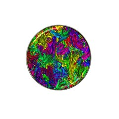 Hot Liquid Abstract A Hat Clip Ball Marker by MoreColorsinLife