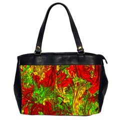 Hot Liquid Abstract C Office Handbags (2 Sides)  by MoreColorsinLife