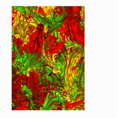 Hot Liquid Abstract C Large Garden Flag (Two Sides) by MoreColorsinLife