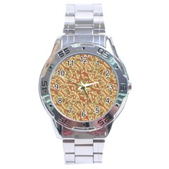 Geometric Bold Cubism Pattern Stainless Steel Analogue Watch by dflcprints