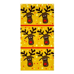 Christmas Reindeer Pattern Shower Curtain 36  X 72  (stall)  by Valentinaart
