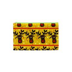 Christmas Reindeer Pattern Cosmetic Bag (xs) by Valentinaart