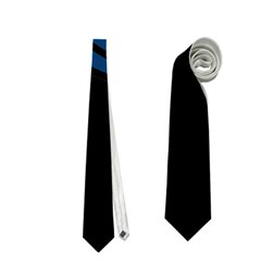 Abstract Night Landscape Neckties (two Side)  by Valentinaart