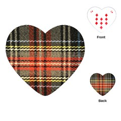 Fabric Texture Tartan Color  Playing Cards (heart)  by AnjaniArt