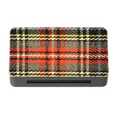 Fabric Texture Tartan Color  Memory Card Reader With Cf by AnjaniArt