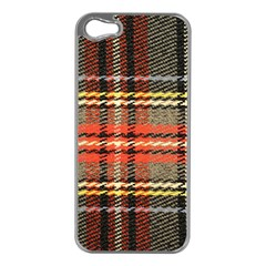 Fabric Texture Tartan Color  Apple Iphone 5 Case (silver) by AnjaniArt