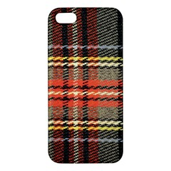 Fabric Texture Tartan Color  Iphone 5s/ Se Premium Hardshell Case by AnjaniArt
