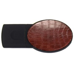Leather Snake Skin Texture Usb Flash Drive Oval (4 Gb)  by AnjaniArt