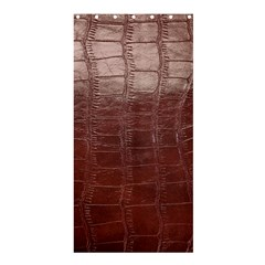 Leather Snake Skin Texture Shower Curtain 36  X 72  (stall)  by AnjaniArt