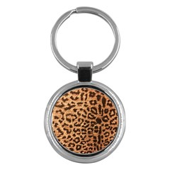 Leopard Print Animal Print Backdrop Key Chains (round)  by AnjaniArt