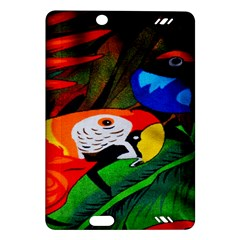 Papgei Red Bird Animal World Towel Amazon Kindle Fire Hd (2013) Hardshell Case by AnjaniArt