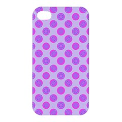 Pastel Pink Mod Circles Apple Iphone 4/4s Premium Hardshell Case by BrightVibesDesign