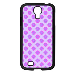 Pastel Pink Mod Circles Samsung Galaxy S4 I9500/ I9505 Case (black) by BrightVibesDesign