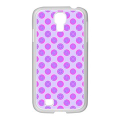 Pastel Pink Mod Circles Samsung Galaxy S4 I9500/ I9505 Case (white) by BrightVibesDesign
