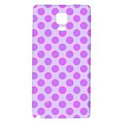 Pastel Pink Mod Circles Galaxy Note 4 Back Case by BrightVibesDesign
