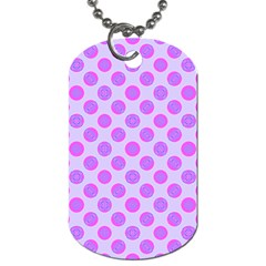 Pastel Pink Mod Circles Dog Tag (two Sides) by BrightVibesDesign