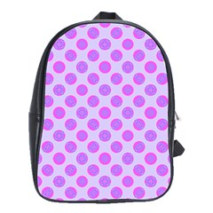 Pastel Pink Mod Circles School Bags(large)  by BrightVibesDesign