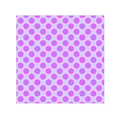 Pastel Pink Mod Circles Small Satin Scarf (square) by BrightVibesDesign
