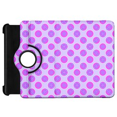 Pastel Pink Mod Circles Kindle Fire Hd Flip 360 Case by BrightVibesDesign