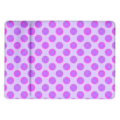 Pastel Pink Mod Circles Samsung Galaxy Tab 10 1  P7500 Flip Case by BrightVibesDesign