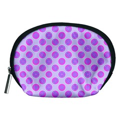 Pastel Pink Mod Circles Accessory Pouches (Medium)  by BrightVibesDesign