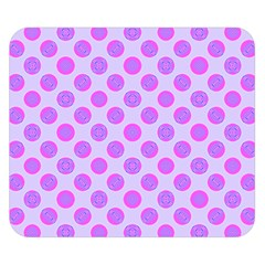 Pastel Pink Mod Circles Double Sided Flano Blanket (small)  by BrightVibesDesign