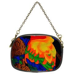 Parakeet Colorful Bird Animal Chain Purses (two Sides)  by AnjaniArt