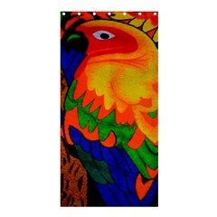Parakeet Colorful Bird Animal Shower Curtain 36  x 72  (Stall)  by AnjaniArt